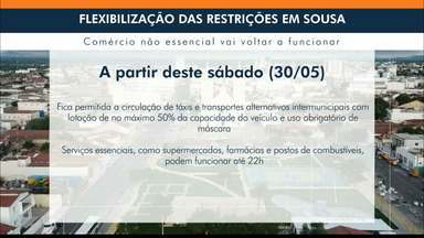 Prefeitura de Sousa flexibiliza medidas de restrições - Comércio em geral volta a funcionar a partir da próxima terça-feira