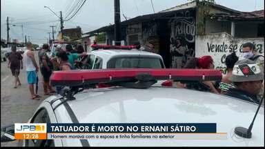 Tatuador é morto a tiros no bairro Ernani Sátiro, em João Pessoa - Dupla estava em uma moto e já chegou atirando. Depois fugiram atirando para o alto.