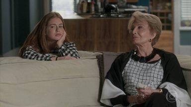 Stelinha tenta colocar Eliza contra Jonatas - Ela conversa com Eliza sobre seu ex-marido. A senhora conta como era seu relacionamento e diz que Eliza não deve confiar em homem nenhum