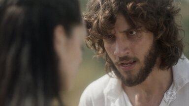 Joaquim e Anna se declaram um para o outro - Anna diz ao amado que os dois não podem ficar juntos e vai embora arrasada
