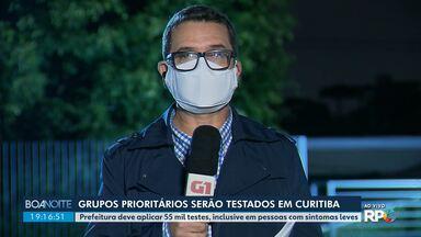 Grupos prioritários serão testados em Curitiba - Prefeitura deve aplicar 55 mil testes, inclusive em pessoas com sintomas.