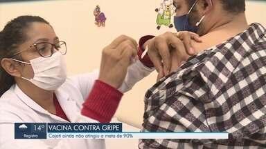 Cajati ainda não atingiu a meta de 90% de vacinação contra a gripe - Grupos prioritários não tem se imunizado contra a gripe durante campanha de vacinação.