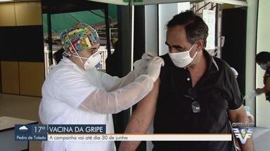 Campanha de vacinação contra a gripe é prorrogada até 30 de junho - Doses são aplicadas nas Unidades de Saúde de cidades da região.