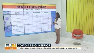 Confira os casos confirmados de Covid-19 no Norte e Noroeste do Rio - Informações são de acordo com o Estado e com as Prefeituras dos municípios da região.