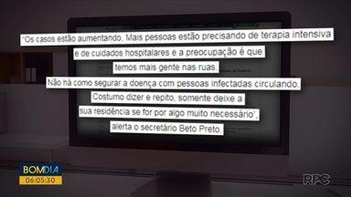 Paraná registra 205 mortes por coronavírus - Em Curitiba foram confirmadas 53 mortes pela doença.