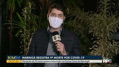 Maringá registra 9ª morte por Covid-19 - Paciente de 76 anos estava internado na Santa Casa de Maringá.
