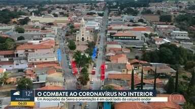 Presidente Prudente tem a pior taxa de isolamento do Estado - E em Araçoiba da Serra a orinetação é andar cada um de um lado da calçada.