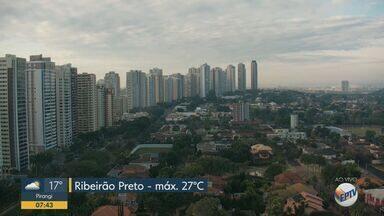 Confira a previsão do tempo para esta quinta-feira (4) em Ribeirão Preto e região - Temperatura deve chegar aos 27º C.