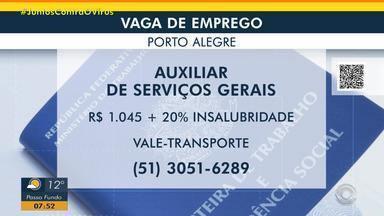 Empresa de Porto Alegre tem vaga para auxiliar de serviços gerais - Acesse o g1.com.br/rs e veja os detalhes.