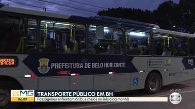 Passageiros enfrentam ônibus cheios no início da manhã - Bom Dia Minas acompanha ida para o trabalho.