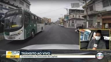A movimentação na Zona Leste - Bom Dia São Paulo circula pelas principais ruas e avenidas da região.