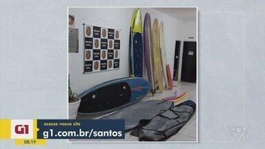 Confira as notícias que são destaque no G1 - Polícia Civil conseguiu recuperar seis pranchas de surfe furtadas em Mongaguá.