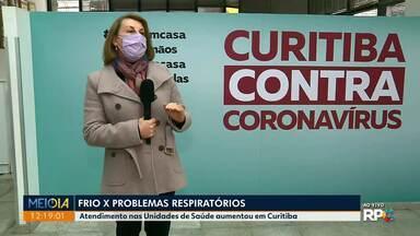 Secretária de Saúde fala do frio e problemas respiratórios - De acordo com a prefeitura de Curitiba, aumentou o número de atendimentos nas Unidades de Saúde