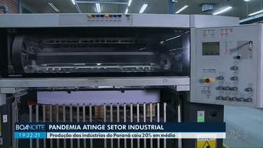 Produção das indústrias do Paraná caiu 20% em média - Em alguns setores a produção quase parou
