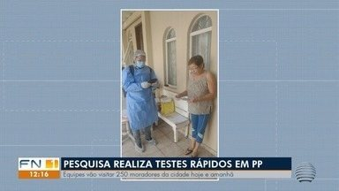 Pesquisadores retomam testagem da Covid-19 em moradores de Presidente Prudente - Análise é feita pela Universidade de Pelotas em 132 cidades.