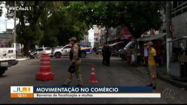 Barreiras de fiscalização e multas são montadas no centro comercial de Belém - Barreiras de fiscalização e multas são montadas no centro comercial de Belém