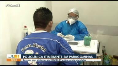 Em Paragominas, pessoas com sintomas da Covid-19 são atendidas em ação itinerante - Em Paragominas, pessoas com sintomas da Covid-19 são atendidas em ação itinerante