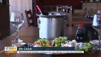 Restaurantes de Cachoeiro preparam cardápios de delivery para o Dia dos Namorados - Assista ao vídeo!