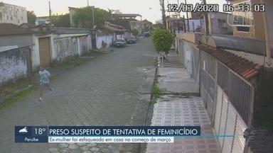 Suspeito de matar ex-mulher é preso em São Vicente - Ex-mulher foi esfaqueada em casa no começo de março.