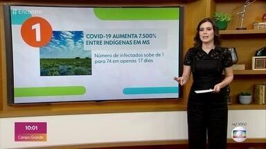Covid-19 aumenta 7.500% entre indígenas no Mato Grosso do Sul - Em Mato Grosso do Sul, número de infectados subiu de 1 para 74 em 17 dias. Em todo o país são 1.868 indígenas contaminados.