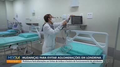 Mudanças para evitar aglomerações em Londrina - Prefeitura fará alterações em linhas de ônibus e horário de funcionamento de atividades.