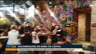Telespectadores registram aglomerações em bares da capital - Prefeito pede que haja novo comportamento social durante a pandemia.