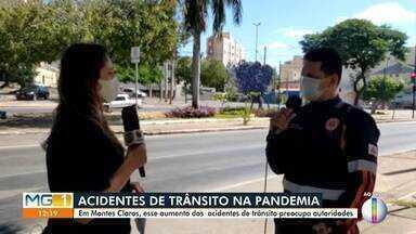 Número de acidentes de trânsito tem aumento durante a pandemia, em Montes Claros - Aumento preocupa autoridades.