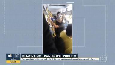 Telespectadores reclamam de ônibus lotados - Vídeos enviados para o Bom Dia Minas mostram os veículos cheios em vários horários.
