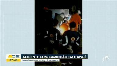Motorista de caminhão morre em acidente em Itapajé - Saiba mais em g1.com.br/ce