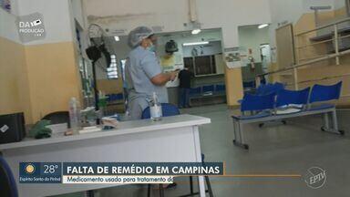 Remédio usado para tratamento da depressão está em falta nos centros de saúde de Campinas - Casos de estresse e ansiedade dispararam durante a pandemia e população não encontra o medicamento Sertralina para tratar a depressão.