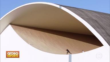 GE no DF1: destaques do Esporte nesta terça-feira (09) - Justiça derruba liminar que autorizava volta do futebol no Rio de Janeiro; skatistas passeiam sobre monumentos de Niemeyer