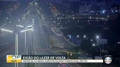 Eixão do Lazer de volta - O Eixão do Lazer está cancelado desde o domingo dia 22 de março, quando começaram as primeiras medidas de distanciamento e isolamento social.