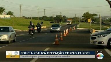Polícia Rodoviária intensifica fiscalização - Operação Corpus Christi é realizada nas estradas da região.
