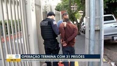 Operação cumpre mandados de prisão temporária - Grupo era investigado por tráfico de drogas.