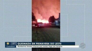 Polícia investiga incêndio criminoso em Primavera do Leste - Polícia investiga incêndio criminoso em Primavera do Leste.