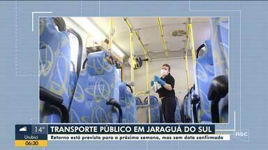 Jaraguá do Sul divulga regras para a volta dos ônibus do transporte coletivo - Jaraguá do Sul divulga regras para a volta dos ônibus do transporte coletivo