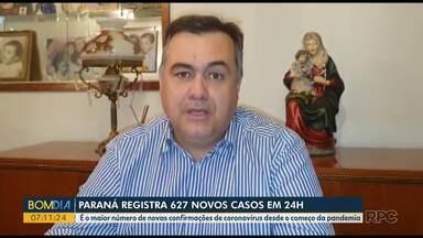 Secretário estadual de saúde diz que deve anunciar novas medidas para combater a Covid-19 - Paraná registrou 627 novos casos em 24 horas.