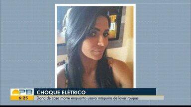 Mulher morre após sofrer descarga elétrica usando máquina de lavar roupa, em Pocinhos - Filho da vítima tentou buscar ajuda, mas quando retornou para a casa, a mãe já estava morta.