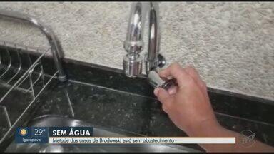 Moradores reclamam de falta de água em Brodowski, SP - Problema aconteceu em estrutura do poço que abastece 50% da cidade