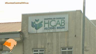 Número de internações hospitalares aumenta em 87% em Santa Maria em uma semana - Hospital de Caridade enfrentou surto de coronavírus entre os profissionais de saúde.