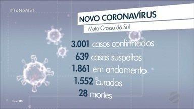 Mato Grosso do Sul registra 3 mortes por COVID-19 em 24 horas - Vítimas eram de Sidrolândia, Ponta Porã e Corumbá. Estado chega a 3.001 casos confirmados da doença