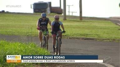 Casal que se conheceu no ciclismo se prepara para cruzar o Brasil - Casal que se conheceu no ciclismo se prepara para cruzar o Brasil