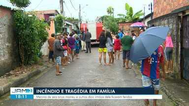 Criança morre durante incêndio dentro de casa na Zona Leste de Manaus - Menino tinha 6 anos