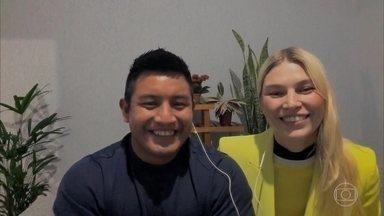 A modelo Aline Weber e o técnico de enfermagem indígena Pigma Amary dividem sua história - Casal se conheceu em 2018 e viveu relacionamento à distância por muito tempo. Atualmente, eles estão noivos e passam a quarentena nuntos em São Paulo