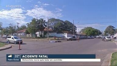 Motociclista morre após bater em caminhão em Corumbá - Motociclista morre após bater em caminhão em Corumbá