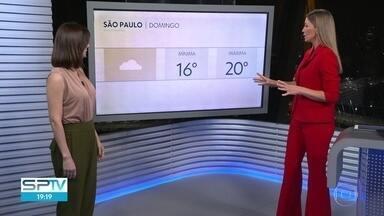 Domingo será de frio e garoa em São Paulo - Máxima não deve passar dos 20ºC.