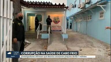 Operação investiga corrupção na área da saúde em Cabo Frio - A Polícia Federal, o Ministério Público Federal e a Controladoria Geral da União fizeram uma operação contra a corrupção na saúde em Cabo Frio, na Região dos Lagos.