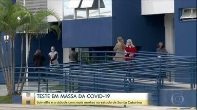 Joinville, em Santa Catarina, começa a fazer testes em massa nos moradores - Joinville é a cidade com mais mortes pela Covid-19 no estado de Santa Cararina.