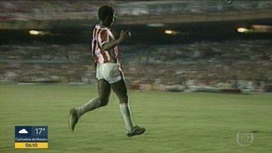 Falecimento do jogador Marinho, ex-Bangu - Marinho , ex-atacante do Bangu , vice-campeão e melhor jogador do campeonato brasileiro de 1985. Marinho morreu em Belo horizonte , onde estava internado desde Abril.
