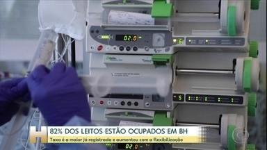 Belo Horizonte atinge o maior índice de ocupação de leitos de UTI para pacientes com Covid - Taxa é a maior já registrada e aumentou com a flexibilização.